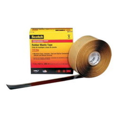 3M 2228-2X3FT 3M 2228-2x3FT Scotch® Premium Grade Sealing and Insulating Tape; 3 ft x 2 Inch x 65 mil, Ethylene Propylene Rubber Backing, Mastic Adhesive, Black