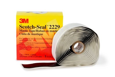 3M 2229-1X10FT 3M 2229-1X10FT Scotch-Seal™ Premium Grade Sealing and Insulating Tape; 10 ft x 1 Inch x 125 mil, Rubber Backing, Mastic Adhesive, Black