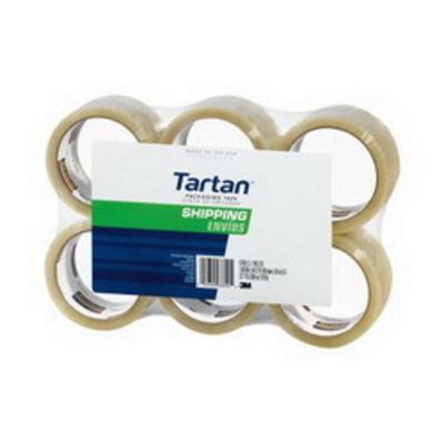 3M 3710-6 3M 3710-6 Tartan® General Purpose Shipping Packaging Tape; 50 m x 48 Inch x 1.9 mil, Polypropylene Backing, Rubber-Resin Adhesive, Clear