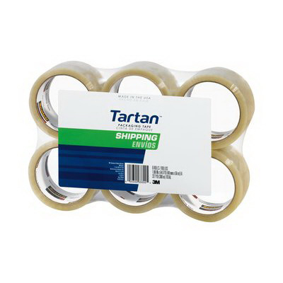 3M 3710L-6 3M 3710L-6 Tartan® Seiling Shipping Packaging Tape; 100 m x 48 Inch x 1.9 mil, Polypropylene Backing, Rubber-Resin Adhesive, Clear