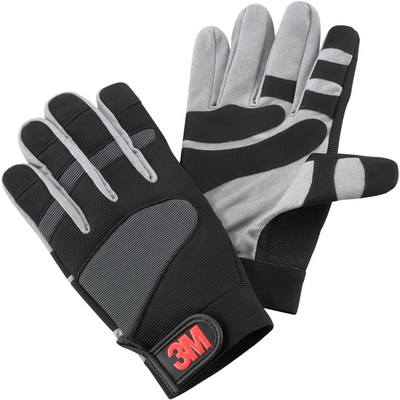 3M WGS-1 3M WGS-1 Gripping Material Work Glove; Small, Gray/Black