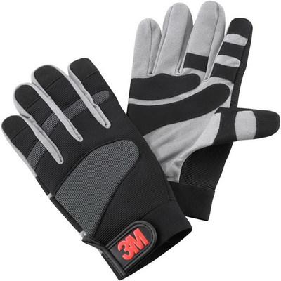 3M WGXL-1 3M WGXL-1 Gripping Material Work Glove; X-Large, Gray/Black