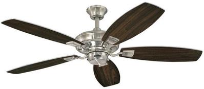 Angelo Brothers Co 7203600 7203600 WESTINGHOUSE 52IN BRUSHED NICKEL FINISH REVERSIBLE BLADES (RICH WALNUT/BIRDS EYE MAPLE)