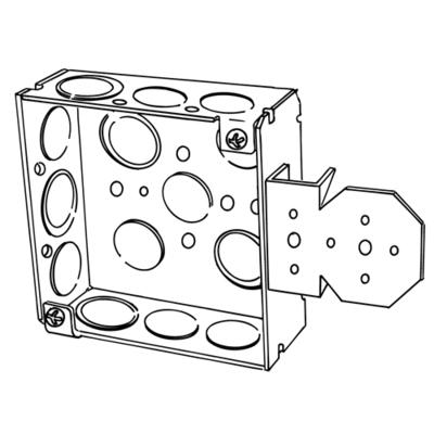 Appleton 4SB-EK 4SB-EK EGS 4 IN SQ OUTL BOX W/NL BRKT
