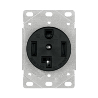 Cooper Wiring Devices 1225 1225 COOPER RECP SINGLE SURFACE 30A 125/250V 3P4W BK