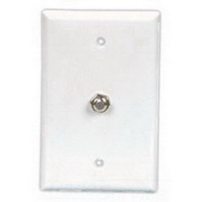 Cooper Wiring Devices 2072W Cooper Wiring 2072W MediaSync™ Coaxial Jack; Flush/Box Mount, Thermoplastic, White