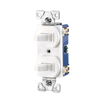 Cooper Wiring Devices 275V-BOX 275V-BOX COOPER SWITCH DUPLEX COMB SP/3WAY 15A 120V IV
