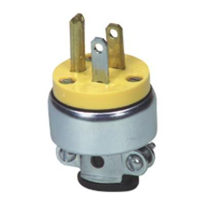 Cooper Wiring Devices 2839-BOX 2839-BOX COOPER PLUG 15A 277V 2P3W STR VINYL/ARMORED YL