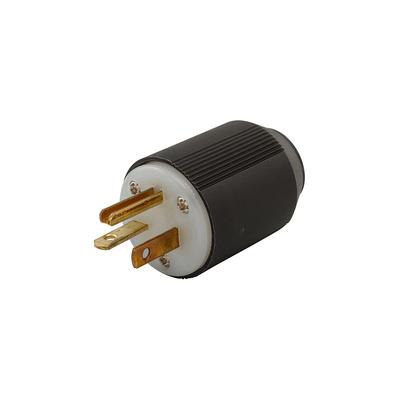 Cooper Wiring Devices 5366N 5366N COOPER WD PLUG 20A 125V 2P3W STR AUTOGRIP BW