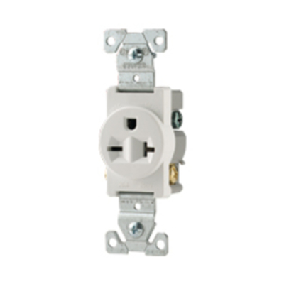 Cooper Wiring Devices 816V-BOX 816V-BOX COOPER RECP SINGLE 15A 250V 2P3W STR SWIRE IV
