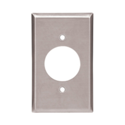 Cooper Wiring Devices 93221-BOX 93221-BOX COOPER WALLPLATE 1G SGL RECP 2.1563HOLE STD SS
