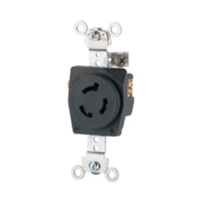 Cooper Wiring Devices CWL615R CWL615R COOPER WD RECP SINGLE 15A 250V 2P3W H/L BK