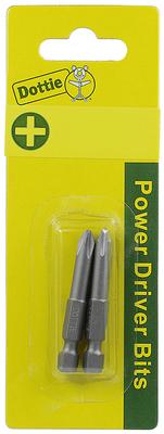 Dottie Co L.h. IB1P4C IB1P4C DOTTIE CARDED 2 PC. #1 X 4 PHILLIPS POWER BIT