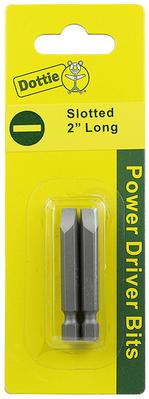 Dottie Co L.h. IB1SLC L.H. Dottie IB1SLC Slotted Power Bit; #1, 2 Inch OAL, 2/Card