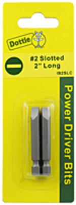 Dottie Co L.h. IB2SLC L.H. Dottie IB2SLC Slotted Power Bit; #2, 2 Inch OAL, 2/Card