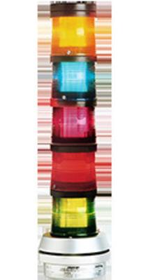 Edwards 101XBRMR24D Edwards 101XBRMR24D AdaptaLight® 101 Series Steady On Flashing LED Stack Light Beacon; 24 Volt DC, 0.215 Amp, Panel/Conduit Mount, Polycarbonate Lens, Red