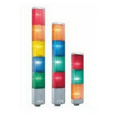 Edwards 102LS-FINH-N5 Edwards 102LS-FINH-N5 102 Series Flashing Halogen Stack Light; 120 Volt AC, 0.110 Amp, Panel/Conduit Mount