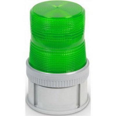 Edwards 105SINHG-N5 Edwards 105SINHG-N5 AdaptaBeacon® Adverse Location Signal Steady-On Halogen Light Module; 120 Volt AC, 0.2 Amp, 25 Watt, 4-1/2 Inch Width x 4-5/8 Inch Height, Gray Rynite® (PET) Base, Polycarbonate Lens, Gray Base, Green Lens, 65 Flashes per min