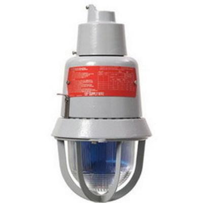 Edwards 116DEXMRINHA-GW Edwards 116DEXMRINHA-GW Explosionproof Diode Polarized Rotating Halogen Light//Beacon; 24 - 28 Volt DC, 0.8 Amp, 20 Watt, Glass Dome, Epoxy Powder Coat, Amber Lens