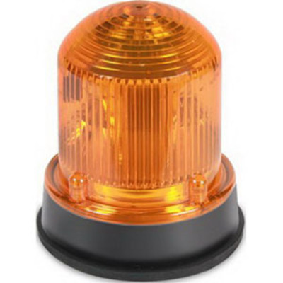 Edwards 125INCSA24D Edwards 125INCSA24D 125 Series Steady-On Incandescent Beacon; 24 Volt DC, 0.610 Amp, 3.250 Inch Width x 3.875 Inch Height, 33% Glass Filled Nylon Base, Polycarbonate Lens, Gray Base, Amber Lens