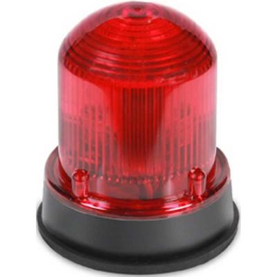 Edwards 125XBRMR24DB Edwards 125XBRMR24DB XTRA-BRITE™ Class 125 Steady-On Flashing LED Beacon Light; 24 Volt DC, 0.215 Amp, Red, 1/2 Inch NPT Internal Or 3/4 Inch External NPT Conduit Mount