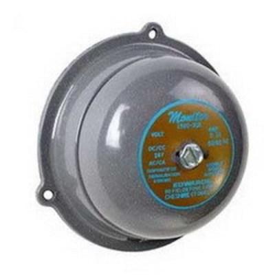 Edwards 156G-6G5 Edwards 156G-6G5 156G Series Vibrating Bell; 6 Inch, 24 Volt AC, 90 DB At 1 m, 80 DB At 10 ft, Gray