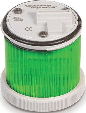 Edwards 248LEDMG120A Edwards 248LEDMG120A Multi-Mode LED Stack Light, 120 VAC, 0.065 A, Green, 48 mm