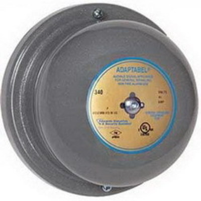 Edwards 340-4FM Edwards 340-4FM 340 Series Vibrating Bell; 4 Inch, 16 Volt AC, 98 DB At 1 m, 88 DB At 10 ft