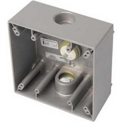Edwards 449 Edwards 449 Weatherproof Back Box; Rugged Die-Cast Aluminum, Gray, Surface Mount
