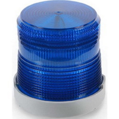 Edwards 48XBRMB120A Edwards 48XBRMB120A XTRA-BRITE™ Dual-Mode LED Beacon Light; 120 Volt AC, 0.108 Amp, Blue, 1/2 Inch Conduit Mount