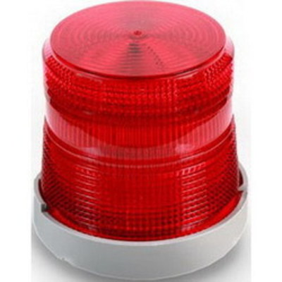 Edwards 48XBRMR24D Edwards 48XBRMR24D Xtra-Brite™ XTRA-Brite LED Dual-Mode Visual Indicator/Beacon; 24 Volt DC, 0.215 Amp, 4-9/32 Inch Width x 4-7/32 Inch Height, Polycarbonate/ABS Blaend Base, Polycarbonate Lens, Gray Base, Red Lens, 65 Flashes per min