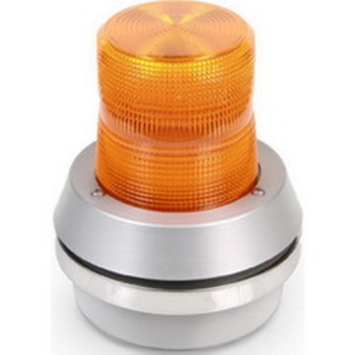 Edwards 51A-G1 Edwards 51A-G1 AdaptaBeacon® Flashing Incandescent Beacon With Horn; 24 Volt DC, 1.1 Amp, 20 Watt, 6.750 Inch Width x 7-3/8 Inch Height, Double Fresnel Polycarbonate Lens, Amber Lens, 65 Flashes per min