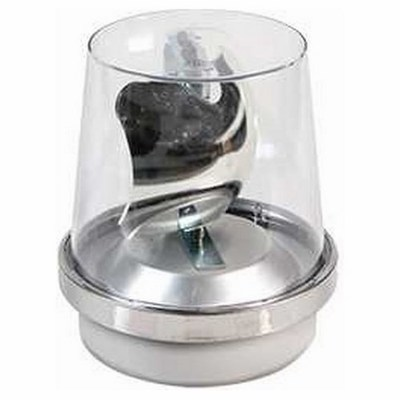 Edwards 52C-N5-40WH Edwards 52C-N5-40WH Halogen Rotating Beacon Light; 120 Volt AC, 0.35 Amp, Clear, 1/2 Inch NPT Conduit/Surface Mount