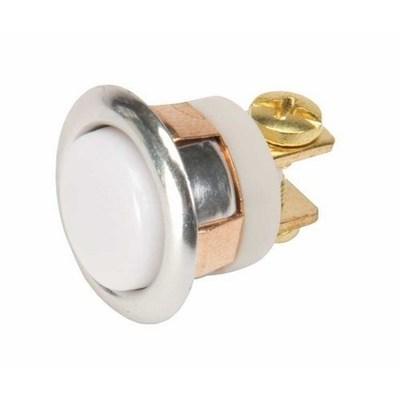 Edwards 620-B Edwards 620-B Low Voltage Non-Illuminated Pushbutton; Momentary, 2 Amp AC/DC At 8 Volt, 0.5 Amp DC At 24 Volt, 0.67 Amp AC At 24 Volt, 0.3 Amp AC/DC At 48 Volt, Snap Fit/Panel/Flush Mount, Brass Rim
