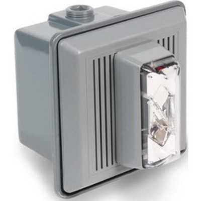 Edwards 868STRC-AQ Edwards 868STRC-AQ 860 Series Electronic Horn/Strobe; 24 Volt AC/DC At 50/60 Hz, 0.06/0.02 Amp, Surface Mount, 90 DB At 10 ft