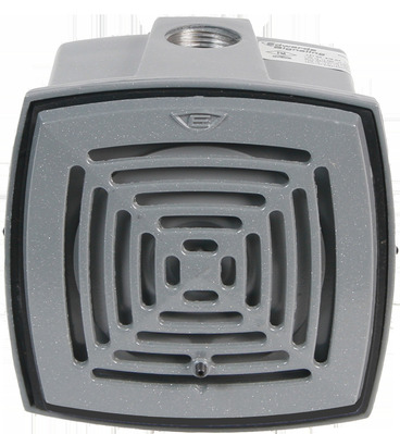 Edwards 877-G1 Edwards 877-G1 AdaptaHorn® 870 Series Weatherproof Vibrating Horn; 24 Volt DC, 3/4 Inch NPT Conduit Or Flat Surface Mount, 78 - 101 DB At 10 ft