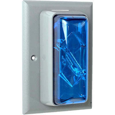 Edwards 89SMSTRB-AQ Edwards 89SMSTRB-AQ Surface Mount Indoor Strobe Light, 24 VAC/DC, 50/60 Hz, 0.390 A, Blue Lens, Thermoplastic