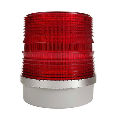 Edwards 92PLC-DFR-N5 Edwards 92PLC-DFR-N5 Double Flash Xenon Strobe Light; 120 Volt AC, 0.1 Amp, 5-5/8 Inch Width x 6-1/4 Inch Height, Red Lens, 65 Flashes per min