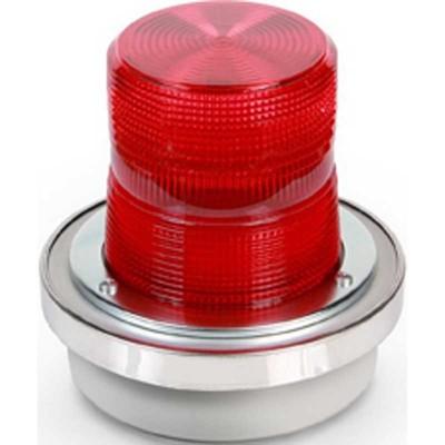 Edwards 94DDV2R-G1 Edwards 94DDV2R-G1 Alarm Strobe Light; 24 Volt DC, 1.2 Amp, 65 FPM, Box/Panel Mount, Fresnel Lens, Red