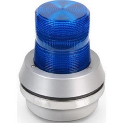Edwards 95B-N5 Edwards 95B-N5 AdaptaBeacon® Light Duty Strobe With Horn; 120 Volt AC, 0.1 Amp, 6.750 Inch Width x 7.360 Inch Height, Polycarbonate Lens, Blue Lens, 65 Flashes per min