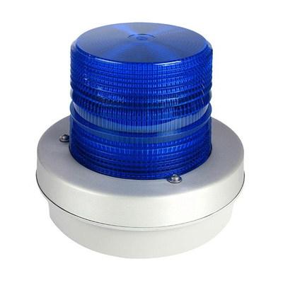 Edwards 97B-EK Edwards 97B-EK Heavy Duty Flashing Xenon Beacon Strobe Light; 12 - 48 Volt DC, 1.2 Amp, Blue, Panel Or 3/4 Inch Conduit Mount
