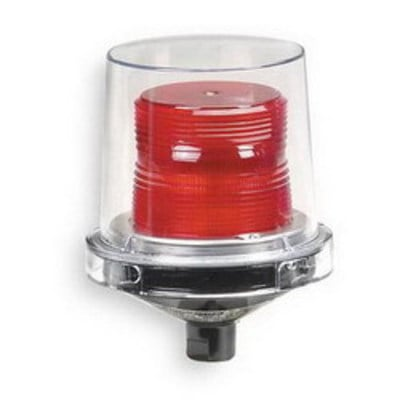 Federal Signal 224XST-024R Federal Signal 224XST-024R Electraray® Strobe Warning Light; 0.7 Amp, 24 Volt DC, Red, 1/2 Inch Pipe Mount