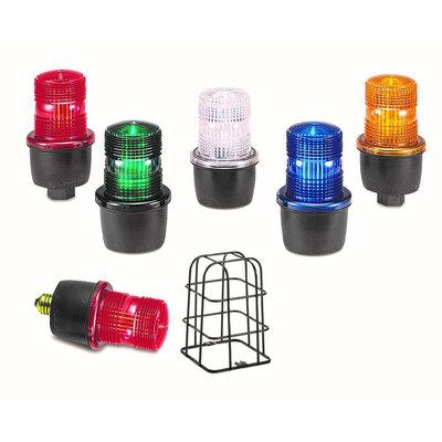 Federal Signal LP3P-012-048R Federal Signal LP3P-012-048R StreamLine® Low Profile Strobe Light; 12 - 48 Volt DC, 0.44 - 0.10 Amp, Red, 1/2 Inch NPT Pipe Mount
