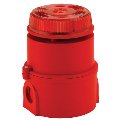 Federal Signal SOUNDER Federal Signal 17-970330 Sounder Beacon; 858.7 mm Dia x 116 mm Height, 6/28 Volt DC, ABS, Red