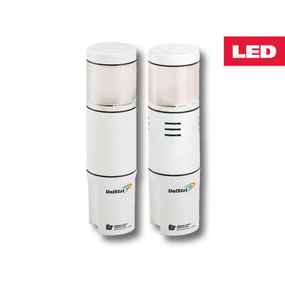 Federal Signal USIS-120TC Federal Signal USIS-120TC UniStat™ Tri-Color LED Status Indicator; 120 Volt AC, 60 Milli-Amp, 100000 Hour, Polycarbonate Lens, Clear Lens