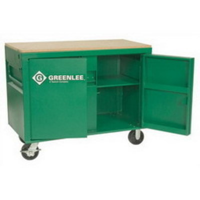 Greenlee 3548 Greenlee 3548 Mobile Work Bench Cabinet; 48 Inch Width x 24 Inch Depth x 30 Inch Height, 20 Cubic-ft, Green