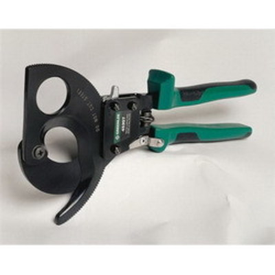 Greenlee 45207 Greenlee 45207 Ratchet Cable Cutter; 750 KCMIL Aluminum, 600 KCMIL Copper, 2 Inch Communication Cable, 11 Inch