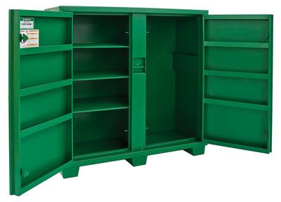 Greenlee 5660LH Greenlee 5660LH 2-Door Utility Cabinet; 60 Inch Width x 24 Inch Depth x 56 Inch Height, 46 Cubic-ft, Green