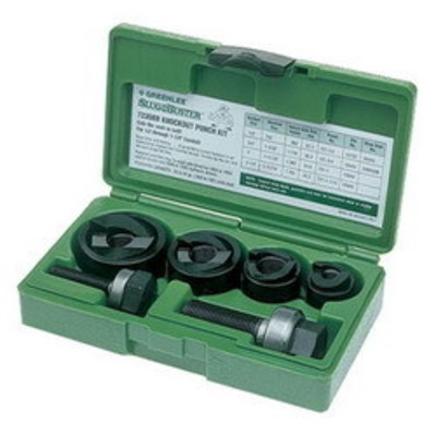 Greenlee 7235BB Greenlee 7235BB Slug-Buster® Round Manual Knockout Punch Kit; 1/2 - 1-1/4 Inch Hole, 1/2 - 1-1/4 Inch Conduit/Pipe, Manual