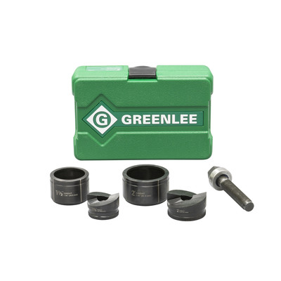 Greenlee 7237BB Greenlee 7237BB Slug-Buster® Round Manual Knockouts Set; 1/2 - 2 Inch Hole, 1-1/2 - 2 Inch Conduit/Pipe, Manual
